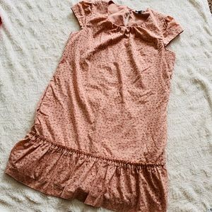 Size large nude shift dress lined GAP cap sleeve
